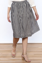 Comme Toi Classic Gingham Skirt