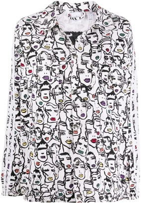Fiorucci x Adidas Faces-print jacket