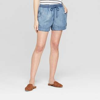 Universal Thread Women's Pull On Shorts Blue
