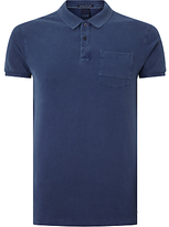 Scotch & Soda Garment Dyed Cotton Polo Shirt, True Blue