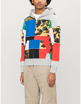 A Bathing Ape Patchwork-print cotton-jersey hoody