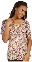 Roper Floral Printed Lawn 3/4 Sleeve Top (Yellow) - Apparel