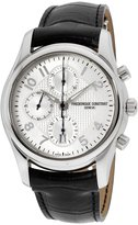 Frederique Constant Leather FC-392RM6B6 43mm Automatic Stainless Steel Case Black Calfskin Anti-Reflective Sapphire Men's Watch