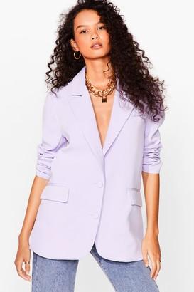 Nasty Gal Womens It's Just Business Longline Blazer - Lilac