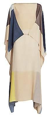 Akris Women's Pittura Printed Silk Crepe Caftan Dress
