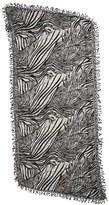 La Fiorentina Animal Print Wool Scarf