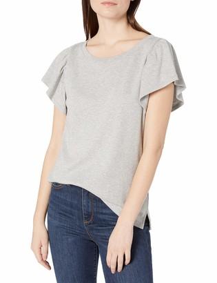 Goodthreads Amazon Brand Women's Cotton Interlock Flutter Sleeve Top