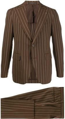 Tagliatore Striped-Print Slim-Fit Suit