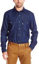 Carhartt Men's Ironwood Denim Work Shirt Snap Front Relaxed Fit
