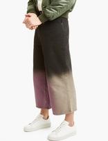 J.w. Anderson Black Wide-leg Cropped Denim Trousers