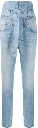 ATTICO High-Waisted Slim-Fit Jeans