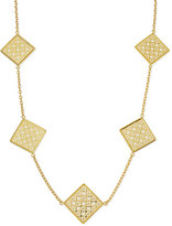Tory Burch Perforated Square Logo Necklace