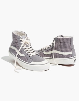 Madewell Vans Unisex SK8-Hi 138 Decon SF High-Top Sneakers in Corduroy and Sherpa