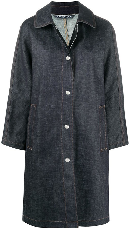 MACKINTOSH Fairlie denim single-breasted coat