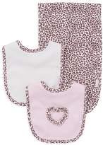 Little Me Infant Girls' Leopard Spot Bib & Burp Cloth Set