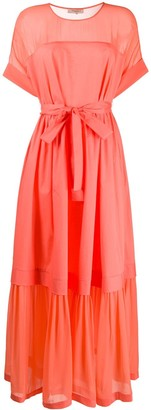 Twin-Set Twin Set tie-waist layered dress