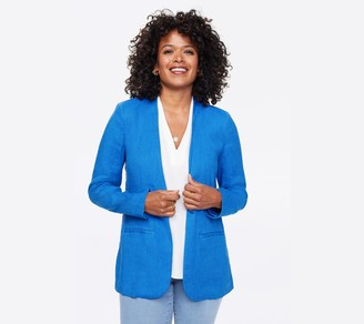 NYDJ Collarless Blazer in Linen