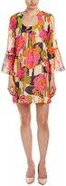 Trina Turk Women's Bonita La Paz Flores Silk Georgette Dress
