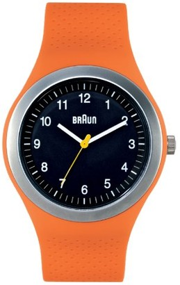 Braun Brown Unisex Analogue Watch BN0111BKORG Quartz Silicone 66538