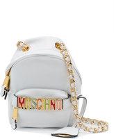 Moschino mini logo cross-body bag - women - Leather - One Size