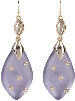 Alexis Bittar Spike Studded Navette Wire Drop Earrings, Purple
