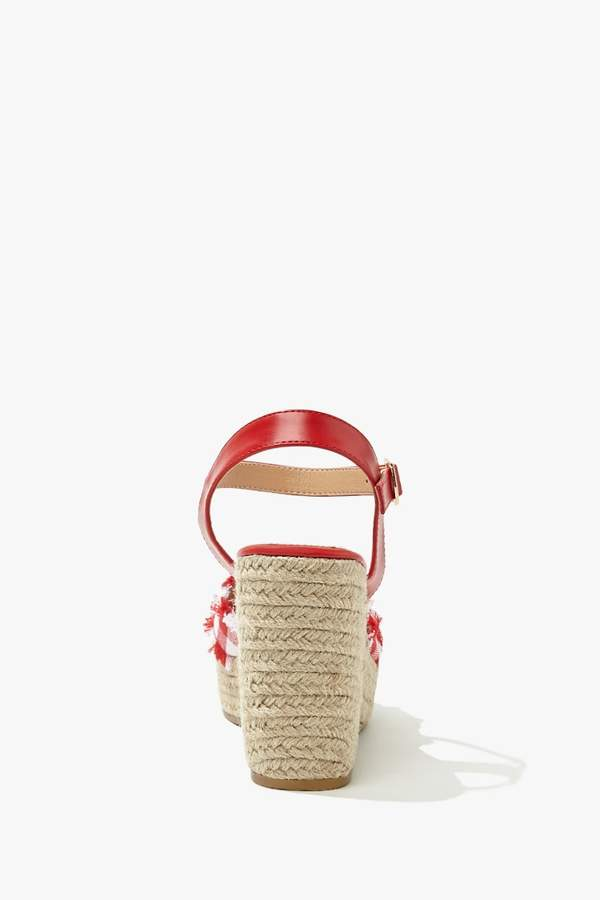 Thumbnail for your product : Forever 21 Gingham Espadrille Heels