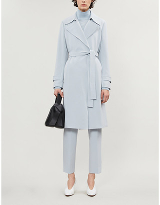 Theory Oakline belted crepe coat