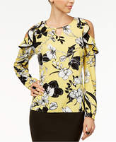 Thalia Sodi Orchid-Print Off-The-Shoulder Top, Created for Macy's