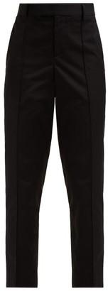 Bottega Veneta Slim-leg Cotton-poplin Trousers - Black