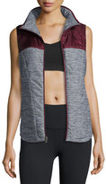 The North Face Pseudio Tunic Vest, Gray/Garnet