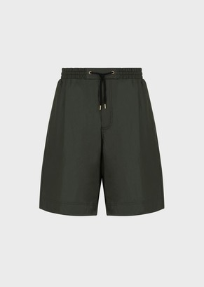 Giorgio Armani Bermuda Shorts In A Coated Technical Fabric
