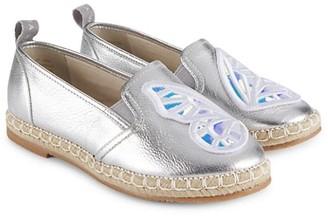 Sophia Webster Little Girl's & Girl's Metallic Butterfly Leather Slip-Ons