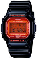 Casio Men's G-Shock DW5600CS-1 Black Resin Quartz Watch with Dial