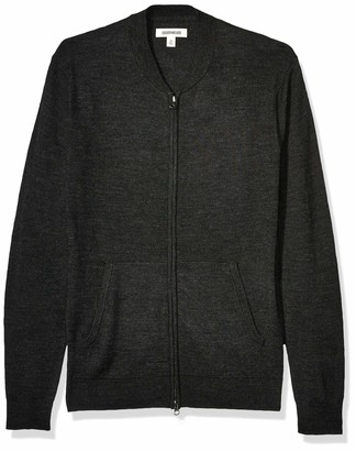 Goodthreads Amazon Brand Men's Lightweight Merino Wool/Acrylic Bomber Sweater