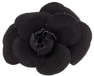 Chanel Canvas Camellia Brooch