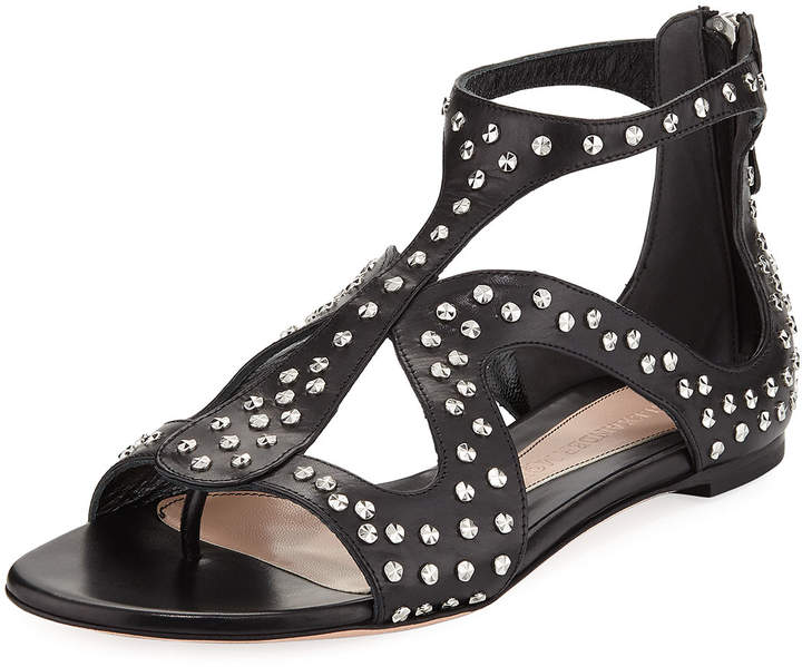 Alexander McQueen Studded Leather Cage Sandal