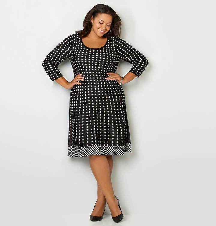 Avenue Dot Long Sleeve Sweater Dress