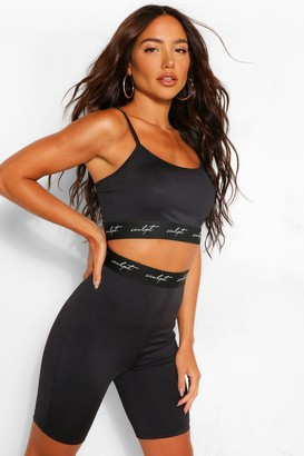 boohoo Sculpt Elastic Tape High Waisted Cycle Shorts