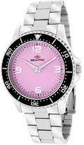 Seapro Tideway Womens Pink Dial Stainless Steel Bracelet Watch