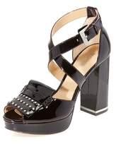 MICHAEL Michael Kors Womens Lindy Platform Leather Peep Toe Plum