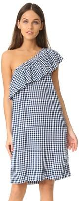 Velvet by Graham & Spencer Women's Checks One Shoulder Dress