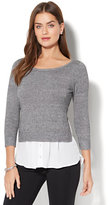 New York & Co. Marled Hi-Lo Twofer Sweater