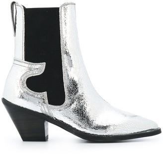 AllSaints Sara metallic western boots