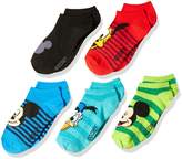Disney Little Boys' 5-Pack Mickey Mouse No-Show Socks