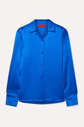 Commission - Silk-satin Shirt - Blue
