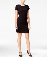 Maison Jules Scallop-Detail Sheath Dress, Only at Macy's