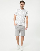 Le Château Floral Print Cotton Blend Polo Top
