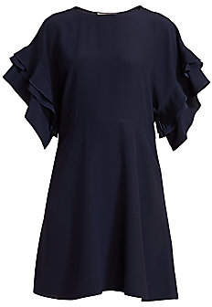Chloé Women's Pleated Ruffle A-Line Dress