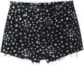 Saint Laurent star print denim shorts - women - Cotton/Spandex/Elastane - 28