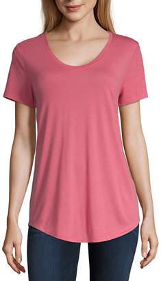A.N.A Womens Scoop Neck Short Sleeve T-Shirt